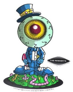on ebay……. STEVE CERIO THE RESIDENTS CLASSIC EYEBALL PAINTING ACETATE TOY DESIGN ART
