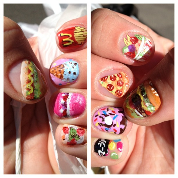 Snax'n'munchies on my nails by @clarahnails  (at Tsumiki Design)