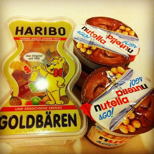 Haribo and Nutella & Go!  from @affordablysweet ☺