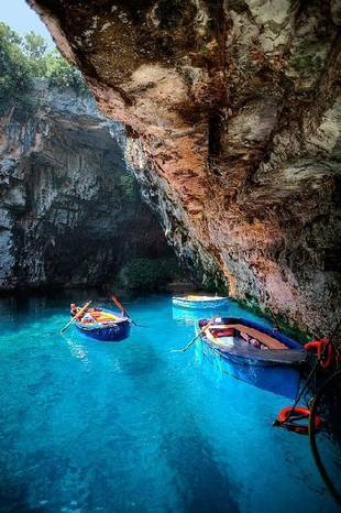color-my-world-with-pastel:  Melissani Cave, Kefalonia, Greece on @weheartit.com - http://whrt.it/1649hwI