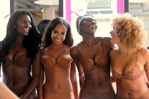blackgirlwhiteboylove:  allthingsblackwomen:  Nubian Skin Lingerie | nubianskin.com  I'm never wearing Victoria's Secret again.