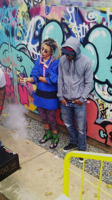 "tajajanel:  ""hit my pager"" music video kelow ft. tabi bonney  i love this picture of you."