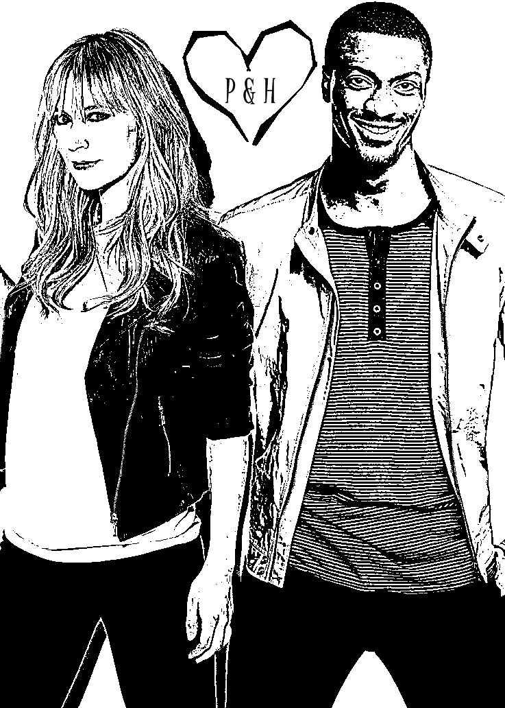 ladyleverage:  @BethRiesgraf and @AldisHodge #Leverage #Pardison the coloring page <3 my favoite so far, the show might have ended but the fun never stops We love them.
