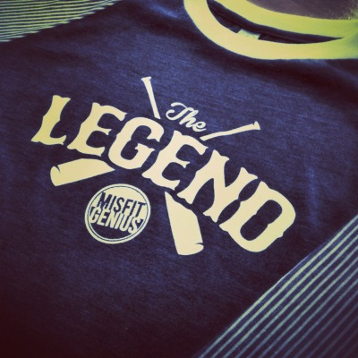 The new MMCG baseball tee, honoring a true Legend of the game. Very limited release, only 12 available! On sale April 15th at 12am. #misfitgenius