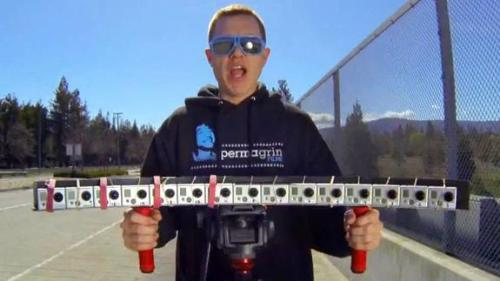 Watch 15 GoPro Cameras Add Bullet Time to Everyday Life Chelsea Stark, mashable.com An array of 15 GoPro cameras helped one amateur filmmaker slow life down with cool bullet-time effects.Marc Donahue of Permagrin Films showed off his half-circle grouping of GoPro cameras that can simultaneously capture a shot, turning everyday…  Watch 15 GoPro Cameras Add Bullet Time to Everyday Life