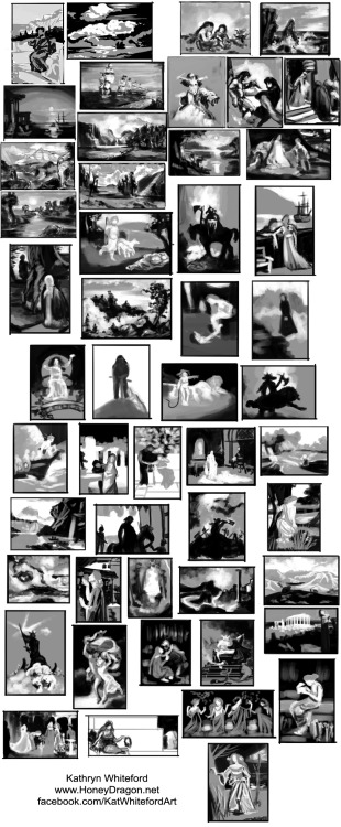 Art Camp - Composition SketchesAll 50 black and white composition studies are done!  View Post