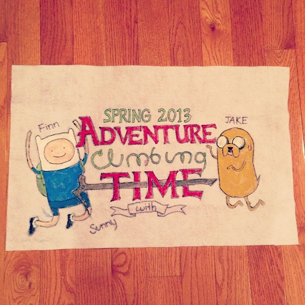 My team flag for my adventure climbing class at school! Had lots of fun making it :3