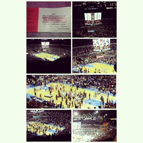 PBA Commissioner's Cup Finals #Ginebra vs #Alaska #Basketball #Sports #Ellis #Tenorio  (at SMART Araneta Coliseum)