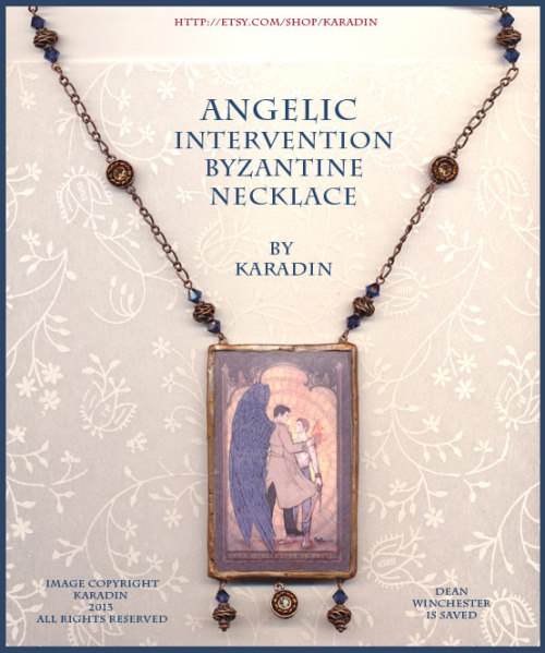 Angelic Intervention (Cas and Dean) Byzantine style necklace by Karadin see more detail here:  also available in this image tees, prints