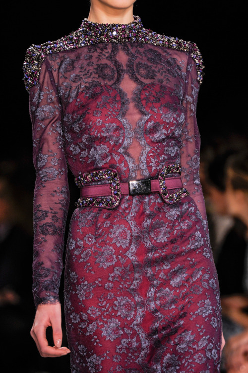aclockworkpink:  Carolina Herrera F/W 2013, New York Fashion Week