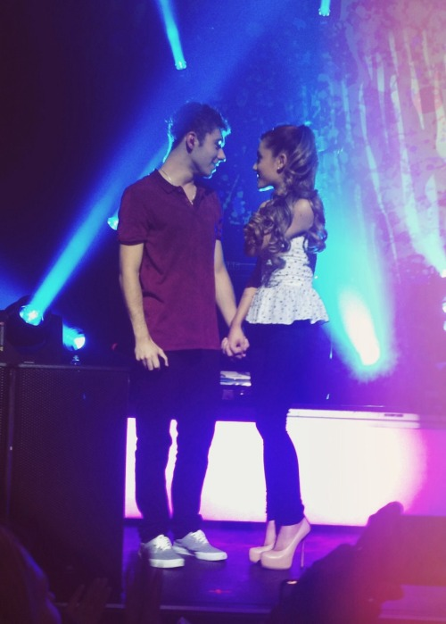 NewPicture ofAriana at The Wanted's concert yesterday