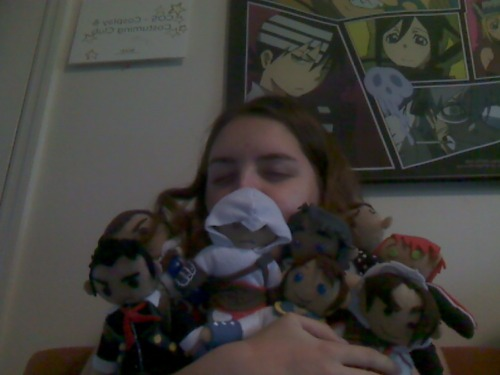 Today was not a good day. Luckily I have a plethora of plushies to make the sads go away. -buries self in pile of plushie friends-