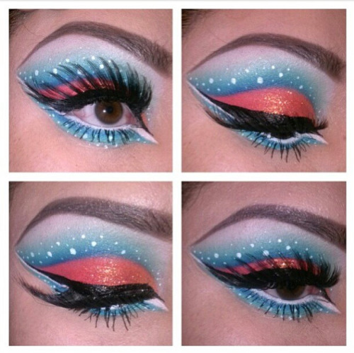 sugarpillcosmetics:  Adorably fun tropical fish inspired look by Makeupholicliz using Sugarpill eyeshadows. Pretty color combo! http://instagram.com/p/W203aCRRDv/