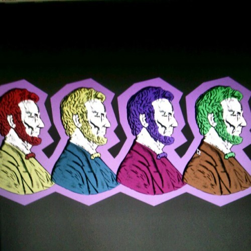Using a scan of a penny I created four colorful pop art inspired Lincoln busts! #instagram #instamood #instagood #instafamous #instaaddict #instahub #instagramhub #iphonesia #android #illustration #drawing #draw #drawit #drawsomething #picture #simple #minimalistic #pop #popart #color #colorful