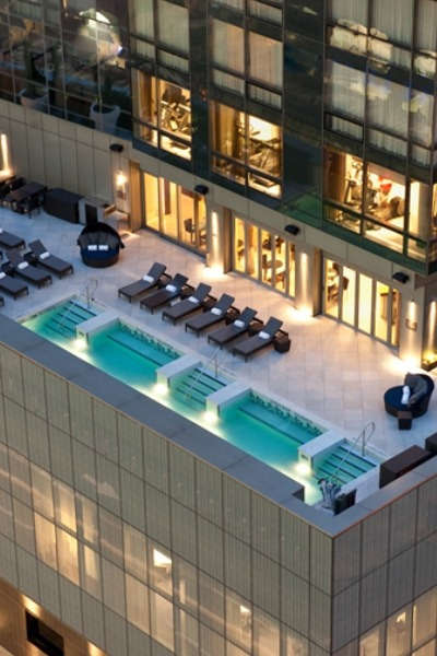 nonconcept:  Trum Soho pool area, New York.