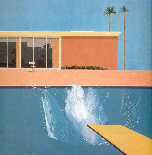 softpyramid:  David HockneyA bigger splash1967