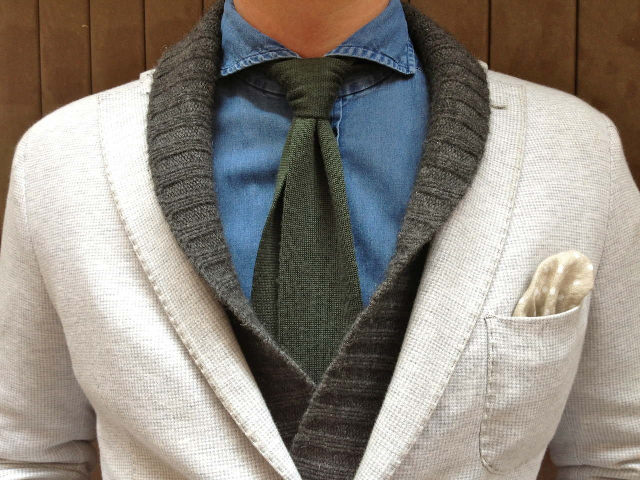 Street look: Shawl cardigan See the rest» here «