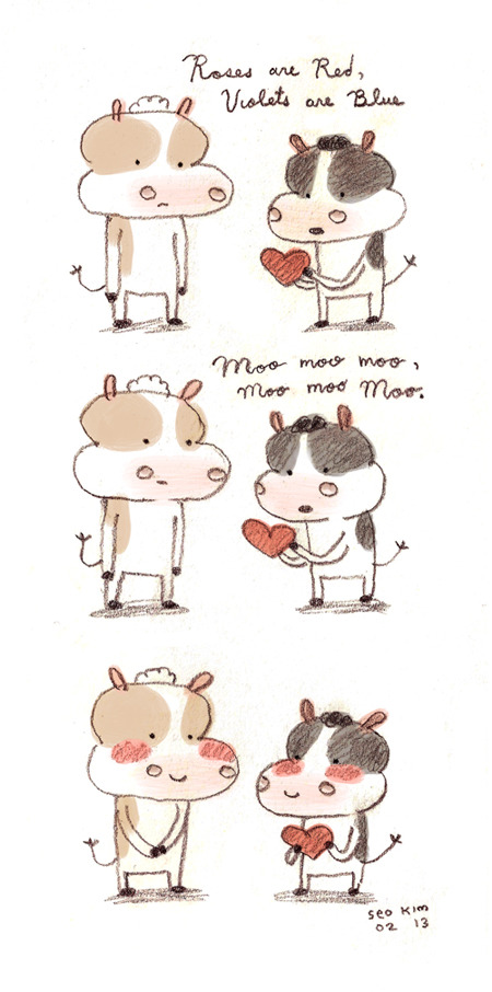 "Some tmi for u: my boyfriend and I like to say ""moo moo moo"" to each other or ""mu"" - short for ""muah."""