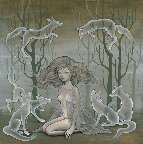 erosart:  Audrey Kawasaki  come touch my bruises, Renard. make them hurt. ♥