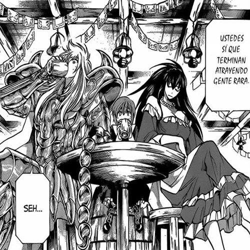 wiengirl:  bijou156:  I loved Caldera in the Kardia arc! her feistiness and independence! Great woman!  Carvera me cayó muy bien, especialmente su local decorado para fiestas patrias. xDDD  Min historia de una OTP frustrada