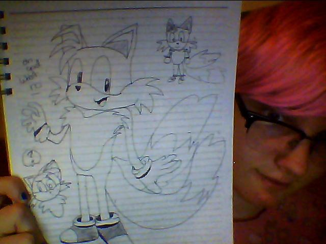 My friend told me to redraw Tails Oh god what is anatomy  I have no idea what I'm doing