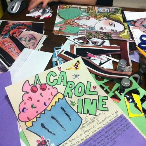 ashersloan:  We be crafting!!! @elarablair #penpals #narcolepsy #narcolepsypenpals #crafts #letters #godsgirls #artsy