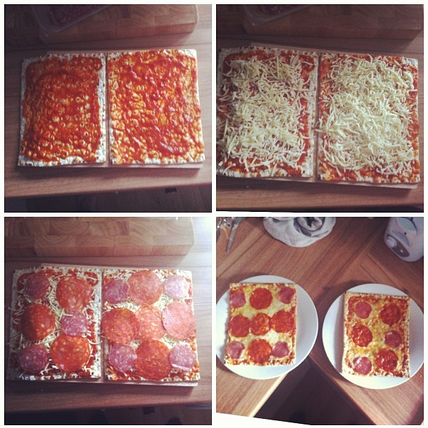 Today this happened @beccawh #pizza #homemade