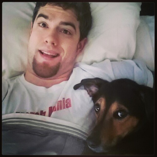 Mike McKenna with his dog, Bauer (Source: @MikeMcKenna56)