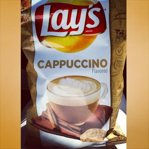 Do yourself a favor and pass on these. As far getting the coffee flavor correct, they are good but if you wanted chips in your cappuccino, we all would have known by now what a weirdo you are. #Dousaflavor #Lays #Cappuccidont #Really #Dontdoit
