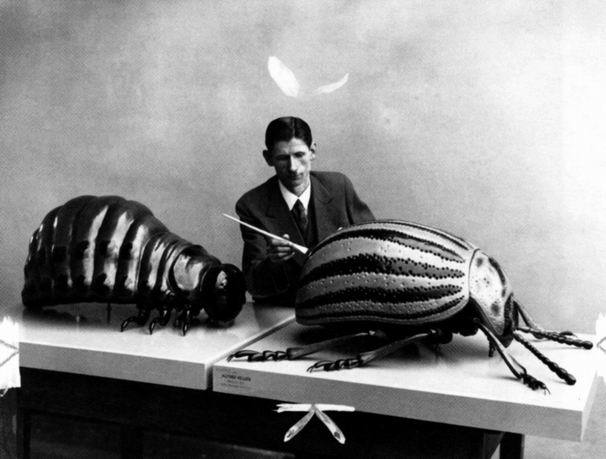 Franz Kafka interviewing Gregor Samsa and Friend, 1915.