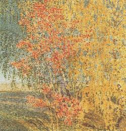 blue-voids:  Igor Grabar - Autumn: Rowan and Birch (1924)