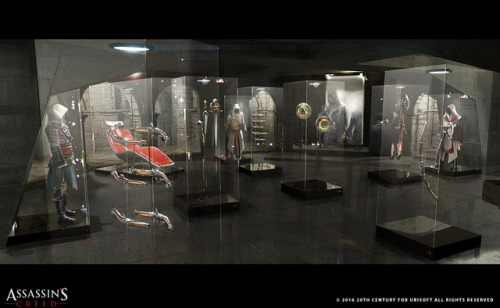 "Concept art of the Abstergo's ""Trophy Chamber"" for Assassin's Creed Movie by Kamen Anev