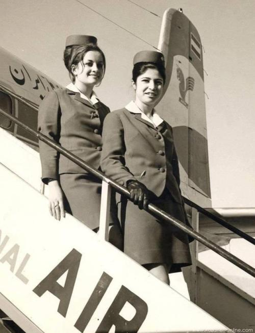 Iran Air flight attendants, Circa 1960's