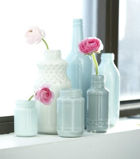 Pretty Painted vases