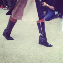 These boots are made for waking @dereklamnyc. ML #nyfw
