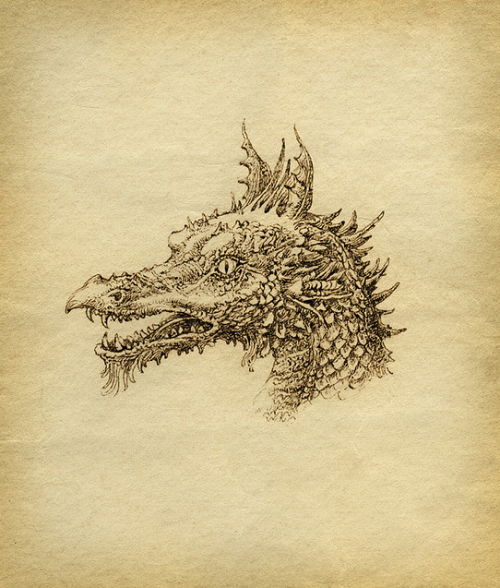 oldpainting:   hicockalorum:  Dragon  Yaroslav Gerzhedovich