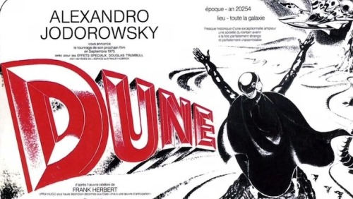 vicemag:  In 1974, the Chilean filmmaker Alejandro Jodorowsky set about turning the classic sci-fi novelDune into a major motion picture. He recruited Orson Welles, Pink Floyd, H. R. Giger, David Carradine, Salvador Dali, and Mick Jagger to the project, completed 3,000 pieces of story art, and spent millions of dollars preparing for production. Investors balked when he asked for more—and when they realized the script would account for a meandering 14-hour film—and it was ultimately shelved.  Read about it here  Dune -> Incal