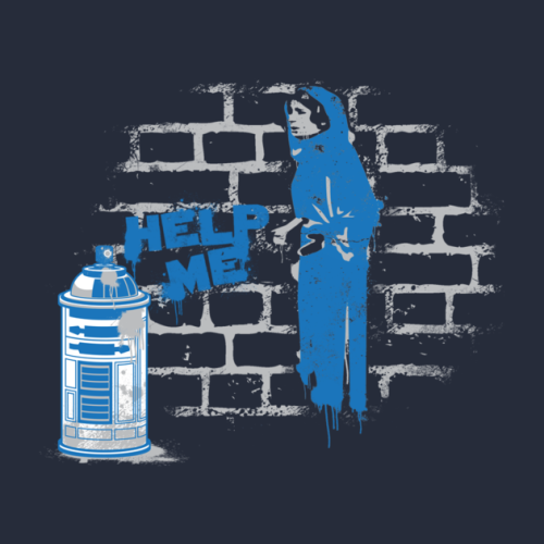 stumblebumstudios:  Help me, social network, you're my only hope…of getting this t-shirt made on TeePublic.com. If 30 people fund it then the shirt gets made. Pledge and share! Thanks! https://teepublic.com/show/1963-my-only-hope