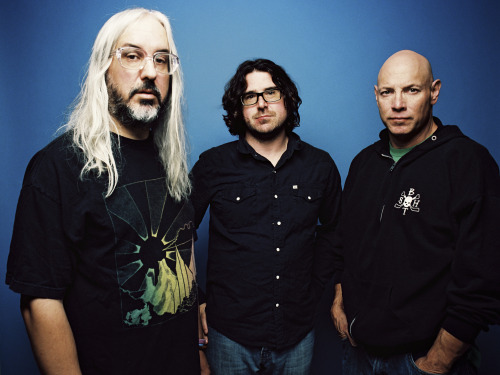 nprmusic:  Dinosaur Jr. sounds just as vital and intense as it did when it first formed 28 years ago. Hear the brawny rock trio play tracks from I Bet On Sky on World Cafe. Photo: Brantley Gutierrez  <3