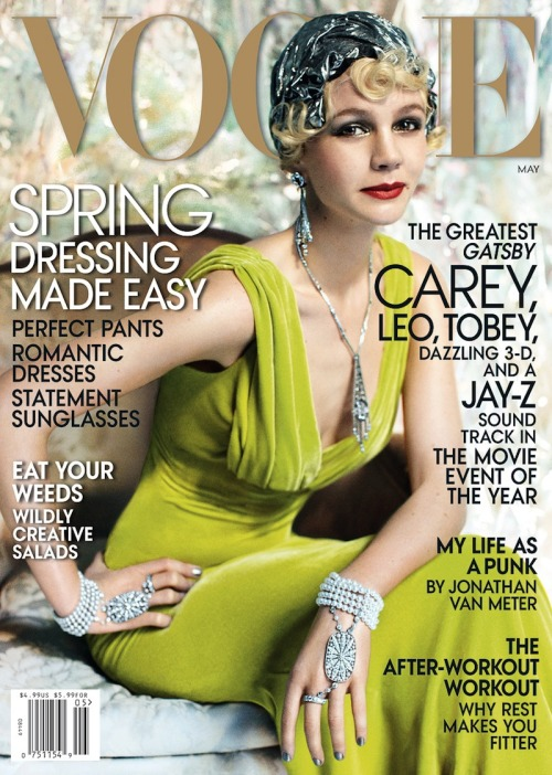 (via See Carey Mulligan's 'Great Gatsby' Themed US Vogue Editorial)