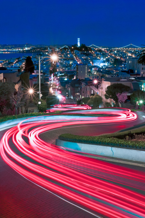 vurtual:  Lights of Lombard - San Francisco, CA (by Jared Ropelato)