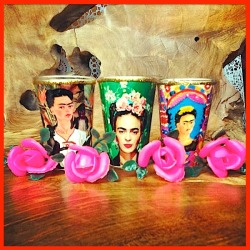 ❀ Frida Kahlo votive candles ❀  Milagros Mundo wanna haves for an eclectic lifestyle!