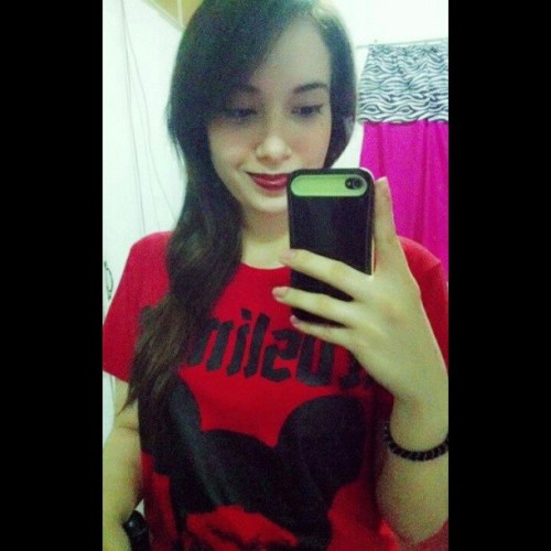 Natynatz (bacolod) reppin the redslim08 agta pula shirt (red shirt black print 2013 edition) #redslim08 #agtapula #red #tshirt #tshirtdesign #clothingline #streetwear #local #brand