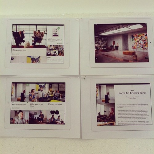 Currently finetuning the FvF iPad app, which we will launch on april 23rd. Stay tuned for updates! (via fvonf on Instagram)
