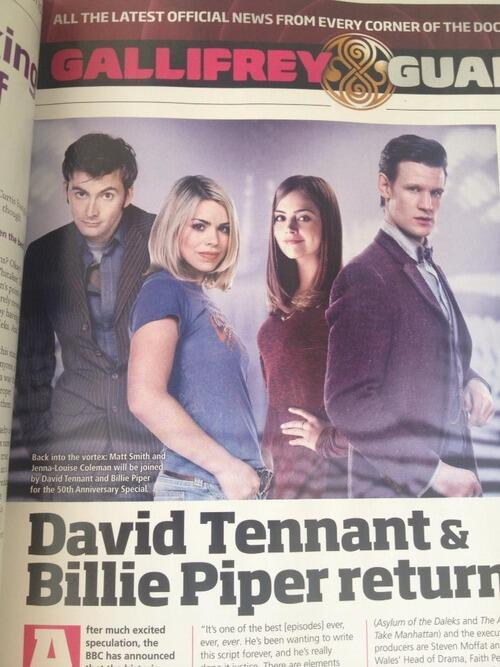 timelady-maluslupus:  David Tennant and Billie Piper returning for 50th Anniversary!  WHAT IS BECOMING OF MY LIFE?!?! Also, is is sad that I can tell than David and Billie's photos were taken for different episodes, since that's what he wears in Tooth and Claw and what she wears for the Girl in the Fireplace…?….. I need a life.