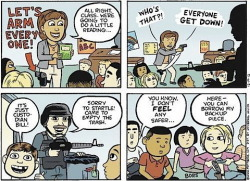 A take on the NRA idea of arming teachers…
