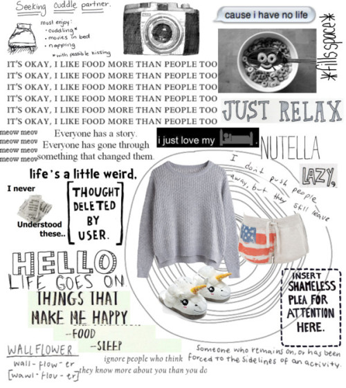 Lazy day at home by trishteeee featuring slippersActivewear shorts, $16 / Slipper / Vinyl Wall Decal Sticker Art - Life's a Little Weird - Dr. Seuss quote…