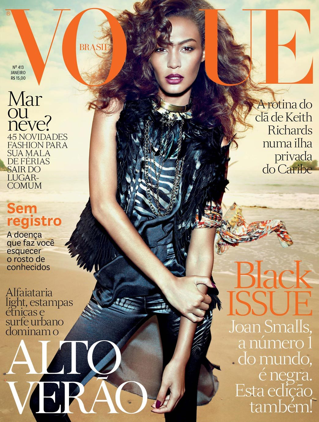 Joan Smalls for Vogue Brazil January 2013.