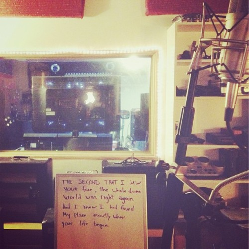 Recording two sentences for the new @quietcompanytx EP.
