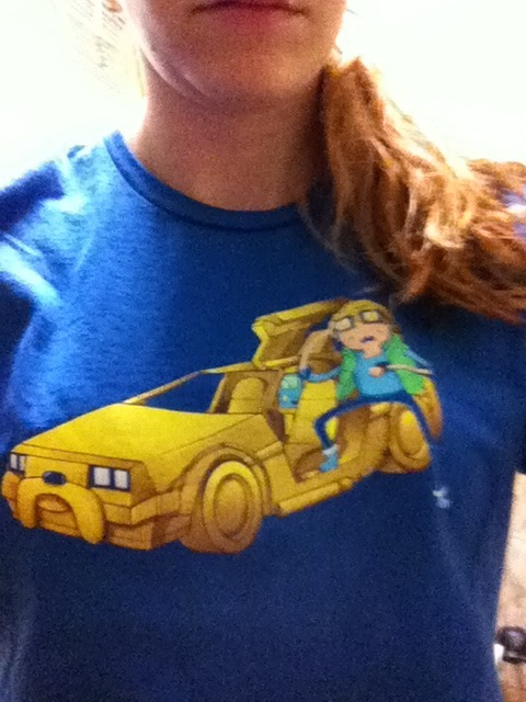 Wore my Adventure Tim/Back to the Future shirt to work today. People dug it (which is good cause I love it :p)